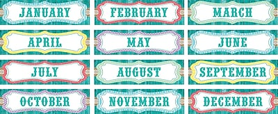 Teacher Created Resources Shabby Chic Monthly Headliners, 12/Set (TCR77193)