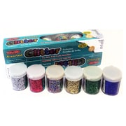 Charles Leonard Creative Arts Glitter Set, 12 Pack, Assorted Colors, .75 oz each (CHL41012)