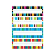 "Trend Stripe-tacular Desk Toppers® Name Plates Var. Pk., 32 per pack, bundle of 6 packs, 9 1/2"" x 2 7/8"" (T-69952)"