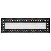"""Teacher Created Resources Chalkboard Brights Flat Name Plates, 36 per pack, bundle of 5 packs, 11 1/2"""" x 3 1/2"""" (TCR5624)"""
