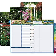 "2020 Day-Timer 5 1/2"" x 8 1/2"" Refill, Garden Path 2-Page Per Day, White (13476-2001)"