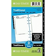"2020 Day-Timer 3 3/4"" x 6 3/4"" Refill, 2-Page Per Day, White (10801-2001)"