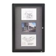 Quartet Fabric Enclosed Bulletin Board, Graphite Frame, 3'H x 2'W (2363L)