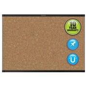 Quartet® Prestige® 2 Magnetic Cork Bulletin Board, 3' x 2', Black Finish
