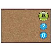 Quartet® Prestige® 2 Magnetic Cork Bulletin Board, Mahogany Frame, 3'W x 2'H