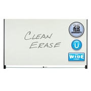 """Quartet® Evoque™ Magnetic Glass Dry-Erase Boards with Invisible Mount, Wide Format, Black Aluminum Frame, 85""""W x 48""""H (G8548BA)"""