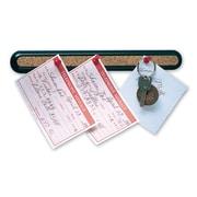"Quartet® Bulletin Bar® II, Natural Cork w/Black Plastic Frame, 12""W x 1""H"