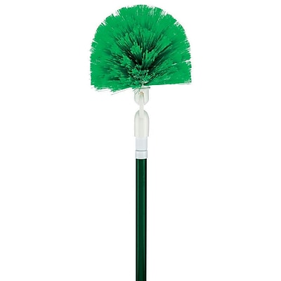 "Libman Swivel Duster & Handle, Steel Handle, 8"", Green & White, Case of 4, (0118)"