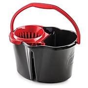 Libman 4 Gallon Clean & Rinse Bucket & Wringer, Black (0156)