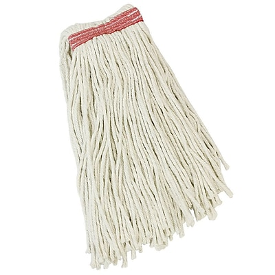 Libman Cut-End Wet Mop Head, Recycled Cotton Blend, 20 oz., White (0975)