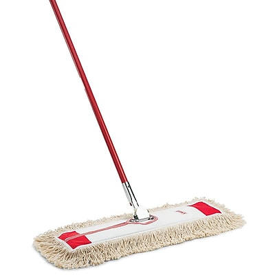 Box of 6 5X24 Dust Mop Frame Shank-Free 100/% Made in USA