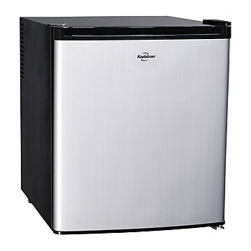 Koolatron KCR-40 1.7 Cu. Ft. Refrigerator, Silver/Black (KCR40B)