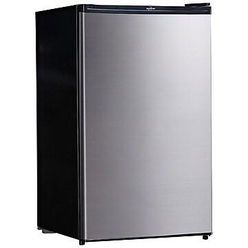 Koolatron 4.6 Cu. Ft. Refrigerator, Silver/Black (BC130SS)