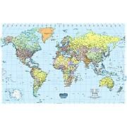 """House of Doolittle Laminated World Map, 38"""" x 25"""" (HOD711)"""