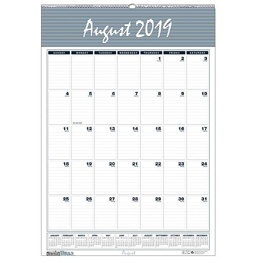 House Of Doolittle® 12 Months Wall Calendar, Blank, Aug-Jul (HOD352)