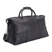 Royce Leather PREMIUM Medium Black Weekender Duffel Bag (680-BLACK-VLS)