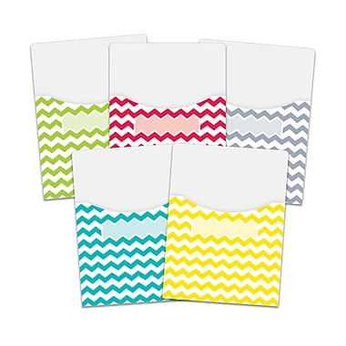 Chevron Solids 9X12 Library Pockets, 10/pack (CTP6928)