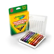 Crayola Triangular Crayons 8 Count, Asst. Sold as a set of 12, each pack has 8 colors for a total of 96 (BIN524008)