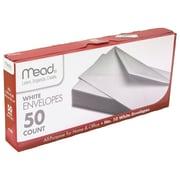 "Mead Envelopes Plain 10LB, 9.7"" x 4.3"" x 1.4"" 50 CT per pk, 12 pks per bundle, total 600 envelopes, White (MEA75050)"
