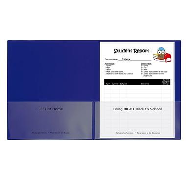 C-Line Blu 25ct Classroom Connector School to Home Folders, 2 Pocket (CLI32005)