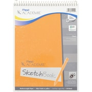 "Mead Academie Sketch Book, 9"" x 12"", White (MEA54402). Sold as a set of 6 sketch books"