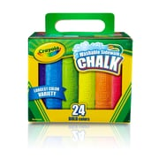 Crayola Washable Sidewalk Chalk, Assorted, 24 CT per box, 4 boxes per bundle, total 96 pieces (BIN512024)
