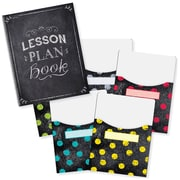 "Creative Teaching Press Chalk It Up! Lesson Plan Book & 9""x12"" Library Pocket Organizers Combo (CTP8909)"