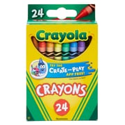 Crayola Crayons 24 Color Peggable, Assorted. Sold as a set of 12, each box has 24 crayons for a total of 288 (BIN3024)
