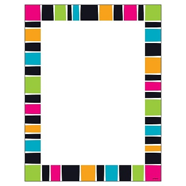 Trend Stripe-Tacular Groovy Terrific Paper, Sold as a set of 6 packs each pack has 50 sheets for a total of 300. (T-11428)