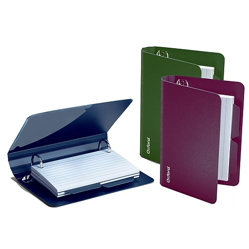 oxford poly index card binder 2 rings assorted ess73569 sold as