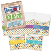 "Creative Teaching Press Upcycle Style Lesson Plan Book & 9""x12"" Library Pocket Organizers Combo (CTP8911)"