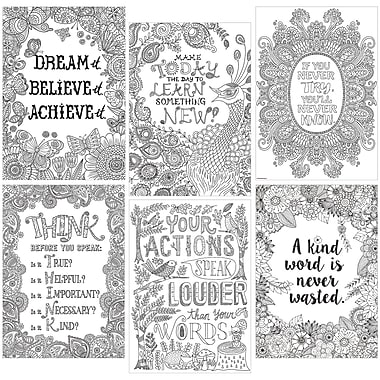 Creative Teaching Press® Color-Me Inspire U Poster Pack, 13.375