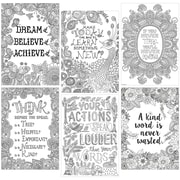"""Creative Teaching Press® Color-Me Inspire U Poster Pack, 13.375"""" x 19"""", 6 Pack (CTP3139)"""