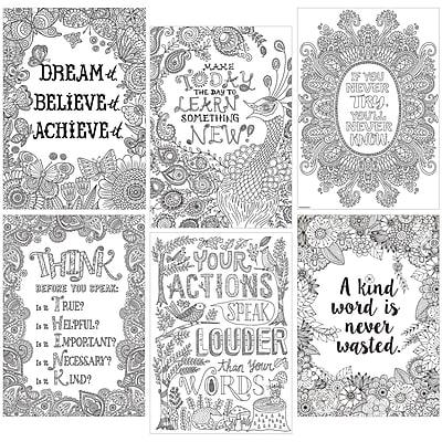 Creative Teaching Press® Color-Me Inspire U Poster Pack, 13.375