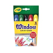 Crayola Washable Window Crayons, 5 Count, Assorted. Sold as a set of 6 each box has 5 crayons for a total of 30 (BIN529765).