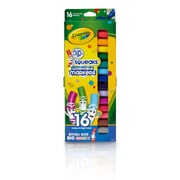 Pip Squeaks Markers 16ct Short Washable In Peggable Pouch, assorted, Sold as a set of 4, each box has 16 markers(BIN588703)