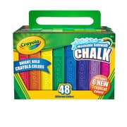 Crayola Washable Sidewalk Chalk, Assorted, 48 CT per box, 4 boxes per bundle, total 192 pieces (BIN512048)