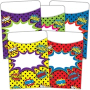 "Teacher Created Resources Superhero Library Pockets, 3"" x 5"", 210/Set (TCR5647)"