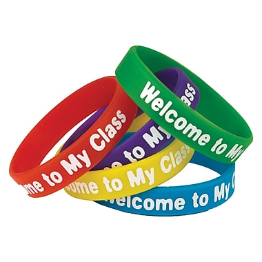 Teacher Created Resources Welcome to My Class Wristbands, 10 per Pack, Bundle of 3 Packs (TCR6023)
