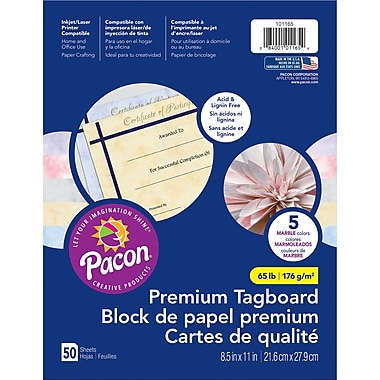 Pacon Marble Tagboard, 8.5