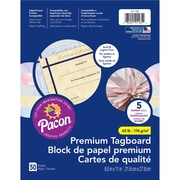 "Pacon Marble Tagboard, 8.5"" x 11"", Assorted Colors, Bundle of 3 Packs, 50 Sheets Per Pack (PAC101165)"