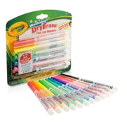 Crayola 12 Color Washable Dry Erae Markers Assorted. Sold as a set of 3, each pack has 12 markers for a total of 36 (BIN985912)