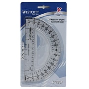 "Westcott 180 Degree Protractor, 6"", 36/Pack (ACM11200)"