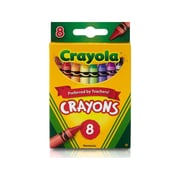 Crayola Crayons 8 Color Peggable, Assorted. Sold as a set of 24, each pack has 8 colors for a total of 192 (BIN3008)
