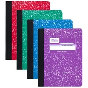 Composition Book Fashion Colors Assorted, White Sheets, 1 Subject, Sold as a Set of 12, Wide Ruled (MEA09918)