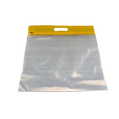 Zipfile Storage Bags 25PK, Yellow, 14