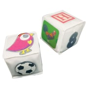 """Ashley Productions Pocket Dice, Set of 2 Insertable Pockets, Clear, 3"""" x 3"""" x 3"""" (ASH22000)"""