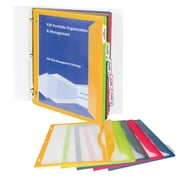 C Line Binder Pockets With Write On, 5 Pocket Binder Pockets, 5 tabs per pack, bundle of 6 packs (CLI06650)