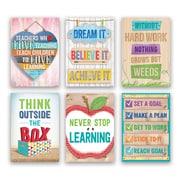 "Creative Teaching Press® Inspire U Poster Set, 13.375"" x 19"", 6 Pack (CTP7284)"