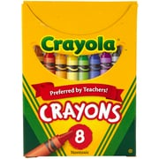 Crayola Regular Size 8 Colors, Assorted. Sold as a set of 24, each set has 8 colors for a total of 192. (BIN8)